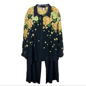 Bob Mackie Flowered 2 Pc Outfit Sz 2X/3X